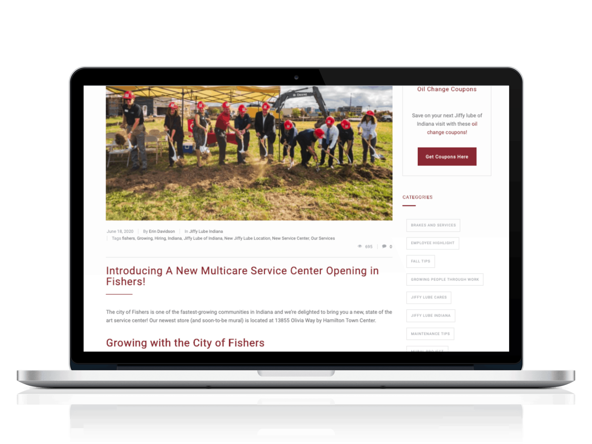 Jiffy Lube New Multi-Care Center Blog by Green Loop Marketing Indianapolis
